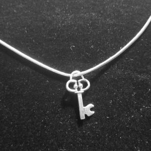 Vintage Swirl  Key .925 Sterling Silver Necklace